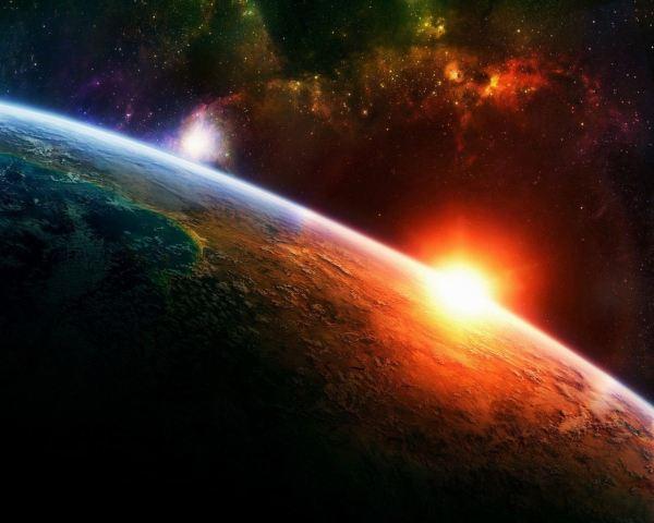Resultado de imagen para sol saliendo sobre la tierra