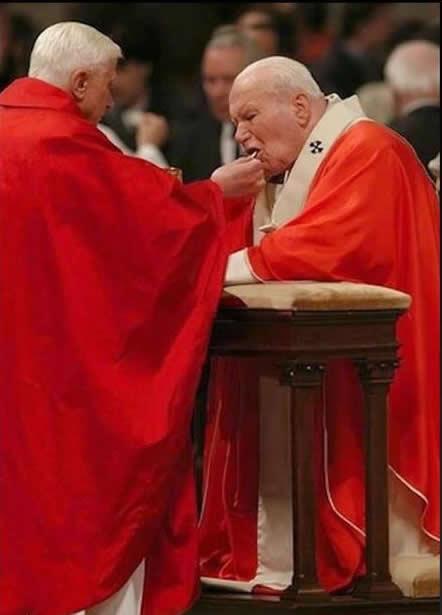 Resultado de imagen para eucaristia de rodillas y en la boca